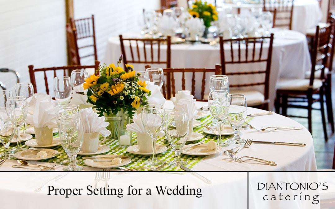 Proper Setting for a Wedding